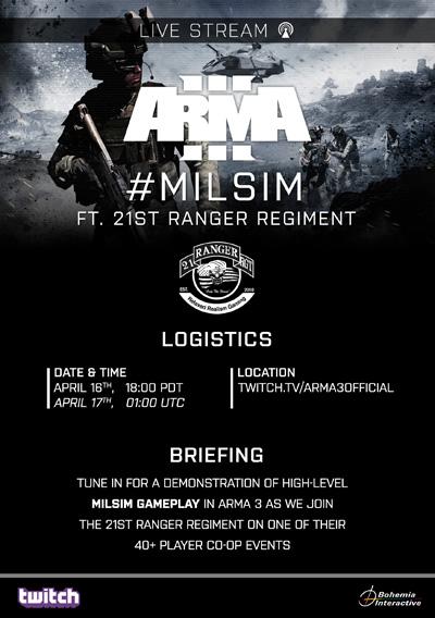 Arma 3 #milsim Live Stream ft  21st Ranger Regiment | Blog
