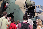 Take On Field Trip :: Waiting in line to inspect the gunship up close